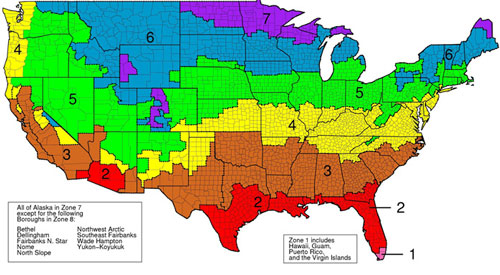 r-value insulation map based on climate in South Dakota